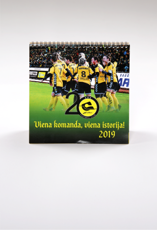 FK GINTRA 2019 metų pastatomas stalo kalendorius