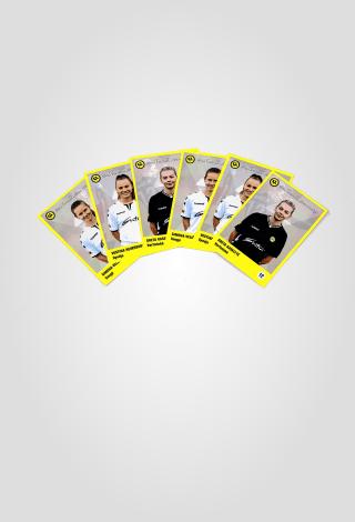 FK GINTRA kolekcinė žaidėjos kortelė