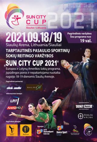 """Pasaulio sportinių šokių reitingo varžybos """"SUN CITY CUP-2021"""