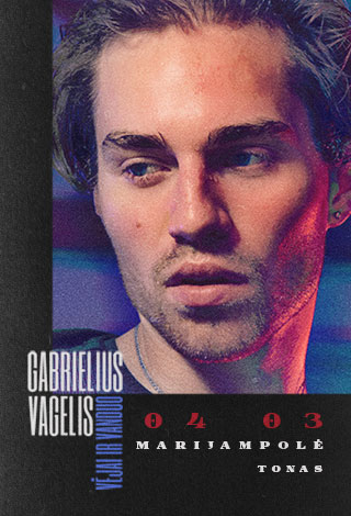 """Gabrielius Vagelis: albumo """"Vėjai ir vanduo"""" pristatymas"""