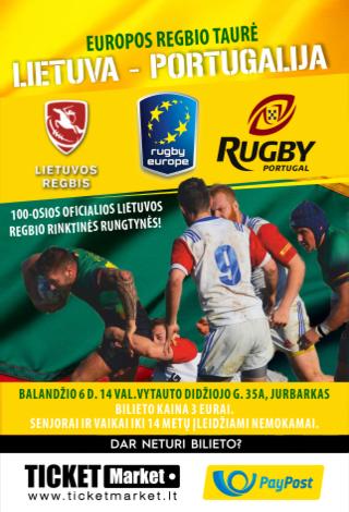 Europos regbio taurė. Lietuva-Portugalija