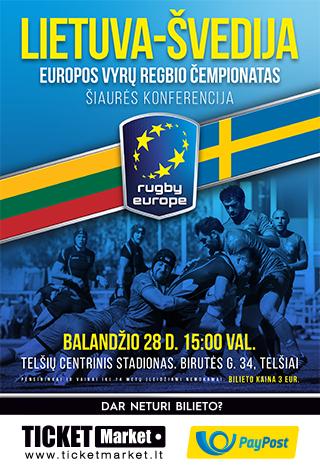 Europos regbio 15 čempionato rungtynės: Lietuva – Švedija