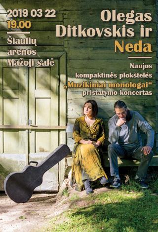 Neda ir Olegas Ditkovskis | Naujojo CD pristatymo koncertas