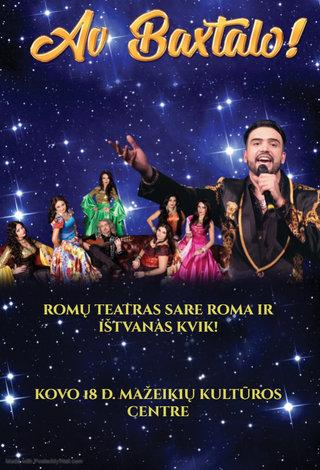 Romų teatro SARE ROMA su IŠTVANU KVIK koncertas AV BAXTALO!