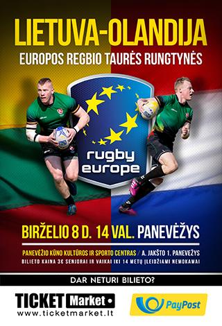 Europos regbio taurė. Lietuva-Olandija