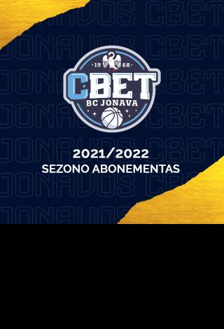 Jonavos CBET 2021-2022 m. sezono abonementai