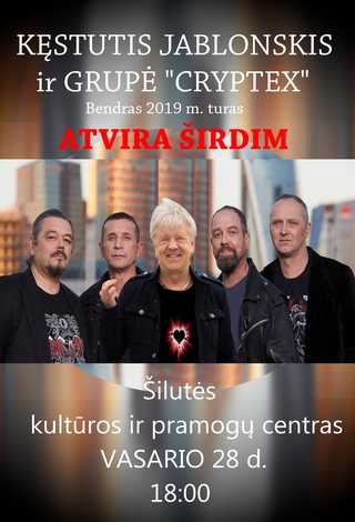 KĘSTUČIO JABLONSKIO ir grupės CRYPTEX koncertas