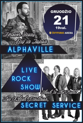 LIVE ROCK SHOW: Alphaville, Secret Service