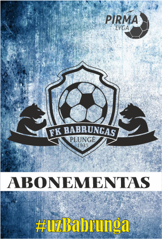 FK Babrungas 2021 m. sezono abonementas
