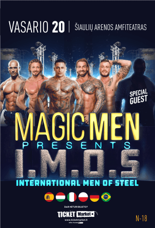 Erotinis vyrų striptizo šou I.M.O.S - International Men of Steel