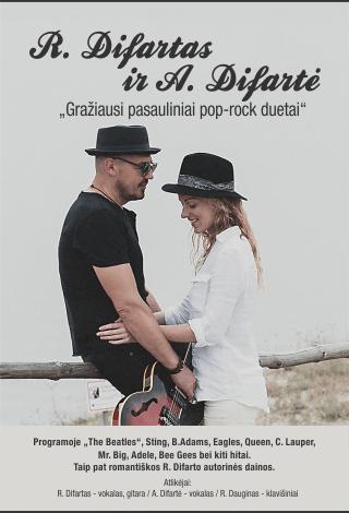 """R. Difartas ir A. Difartė """"Gražiausi pasauliniai pop-rock duetai"""""""