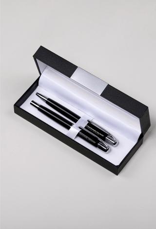 FK GINTRA prabangus graviruotas tušinuko ir rašiklio rinkinys (su dėžute)