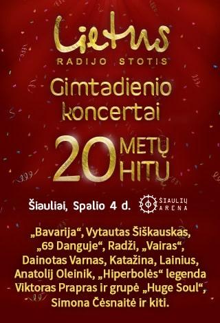 Lietaus gimtadienio koncertai Lietuvai. 20 metų – 20 hitų