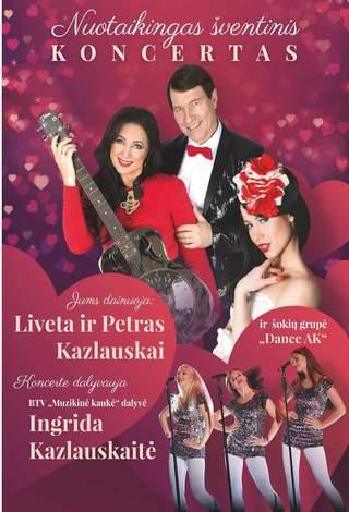 """Liveta, Petras ir Ingrida Kazlauskai su """"Dance AK"""" šokių grupe"""
