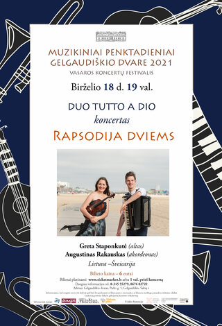 "Dueto TUTTO A DIO koncertas ""Rapsodija dviems"""