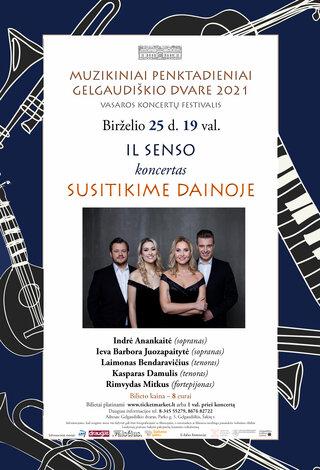 """Grupės IL SENSO koncertas """"Susitikime dainoje"""""""