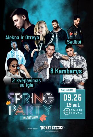 """Spring party in autumn: Alekna ir Otreya, """"Sadboi"""", """"2 kvėpavimas"""", Iglė ir 8 Kambarys"""